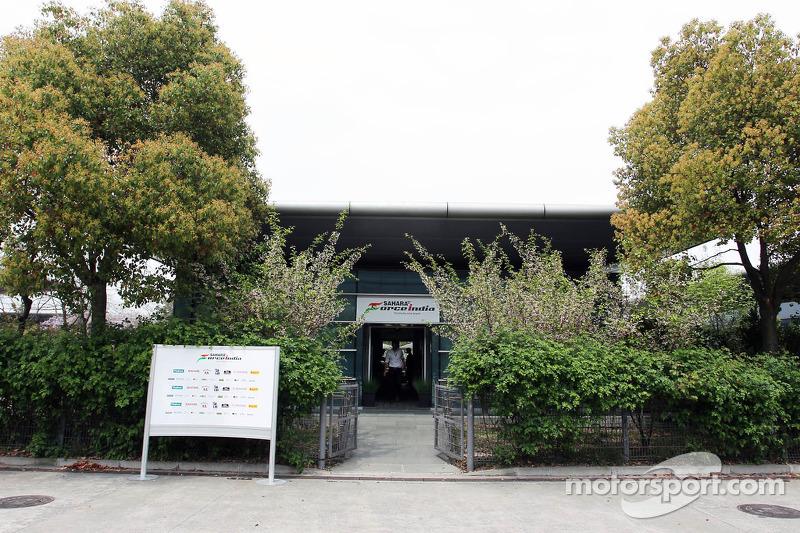 Sahara Force India F1 Team paddock