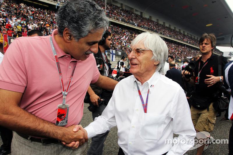 Salman Bin Isa Al Khalifa, CEO Bahrain International Circuit met Bernie Ecclestone, CEO Formula One