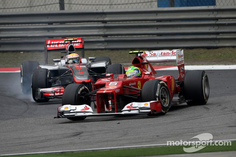Felipe Massa, Scuderia Ferrari en Lewis Hamilton, McLaren Mercedes