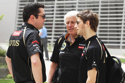 Eric Boullier, Lotus F1 Team Principal, and Romain Grosjean, Lotus F1 Team (Right)