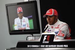 Lewis Hamilton, McLaren Mercedes in the FIA Press Conference
