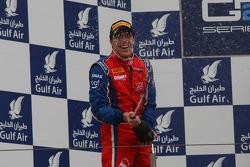 Podium: second place Luiz Razia