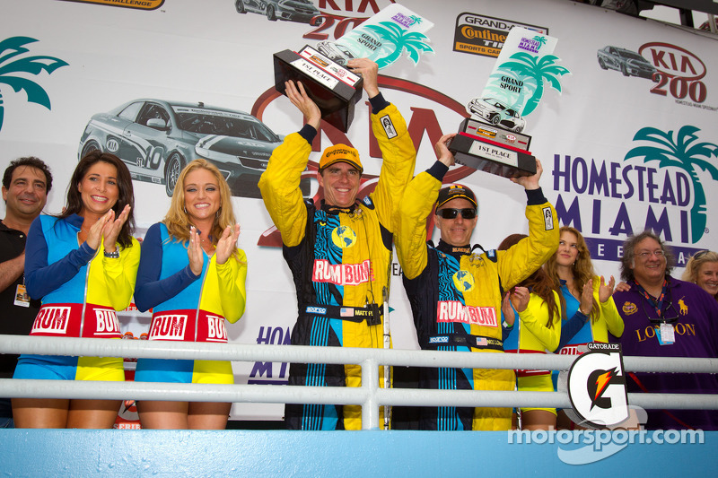 GS podium: winnaars klasse en algemeen Matt Plumb en Nick Longhi