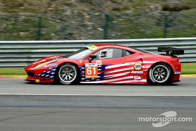 #61 AF Corse-Waltrip Ferrari 458 Italia: Robert Kauffman, Rui Aguas, Brian Vickers