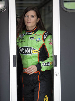Danica Patrick walks to the Nationwide garage