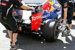 Mark Webber, Red Bull Racing rear diffuser detail