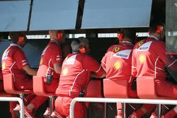 Maurizio Arrivabene, Ferrari Team Principal on the Ferrari pit wall gantry