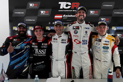 Press Conference with Stefano Comini, Comtoyou Racing, Audi RS3 LMS, Attila Tassi, M1RA, Honda Civic TCR, Roberto Colciago, M1RA, Honda Civic TCR, Dusan Borkovic , GE-Force, Alfa Romeo Giulietta TCR, Mato Homola, DG Sport Compétition, Opel Astra TCR