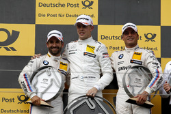 Podio: ganador de la carrera Paul Di Resta, Mercedes-AMG Team HWA, Mercedes-AMG C63 DTM, segundo lugar Timo Glock, BMW Team RMG, BMW M4 DTM, tercer lugar Bruno Spengler, BMW Team RBM, BMW M4 DTM