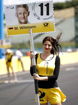 Chica de parrilla para Marco Wittmann, BMW Team RMG, BMW M4 DTM