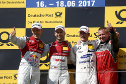 Podio: Ganador de la carrera René Rast, Audi Sport Team Rosberg, Audi RS 5 DTM, segundo clasificado Mattias Ekström, Audi Sport Team Abt Sportsline, Audi A5 DTM, tercero clasificado Maxime Martin, BMW Team RBM, BMW M4 DTM