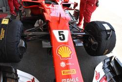 L'avant de la Ferrari SF70H