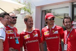Sebastian Vettel, Ferrari and Antonio Giovinazzi, Ferrari piloto de prueba y reserva
