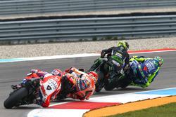 Johann Zarco, Monster Yamaha Tech 3 lmost crashing tis ouching Valentino Rossi, Yamaha Factory Racing