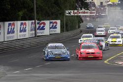 Marcel Tiemann and Joachim Winkelhock battle for the lead