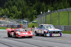 Jean Alesi, Ferrari 512S and Dieter Quester, BMW 3.0 CSL