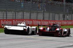 Gerhard Berger, BMW V12 LMR e Tom Kristensen, Audi R18
