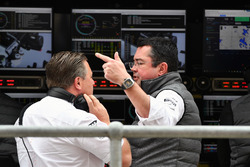 Zak Brown, McLaren Executive Director and Eric Boullier, McLaren Racing Director
