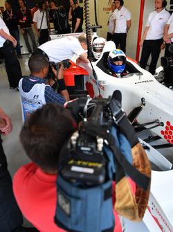 David Saelens, pilote de la biplace F1 Experiences avec Owen Wilson, acteur