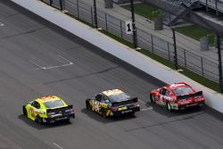 Brandon Jones, Richard Childress Racing Chevrolet, Jeb Burton, JGL Racing Toyota, Ross Chastain, JD Motorsports Chevrolet
