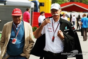 Niki Lauda and Dr. Dieter Zetsche at 2012 Spanish GP
