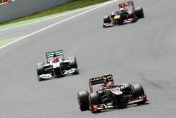 Romain Grosjean, Lotus F1 voor Michael Schumacher, Mercedes AMG F1