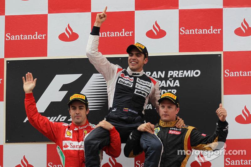 2012: 1. Pastor Maldonado, 2. Fernando Alonso, 3. Kimi Räikkönen
