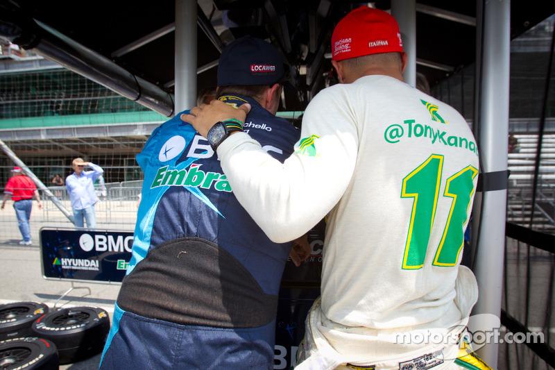 Rubens Barrichello, KV Racing Technology Chevrolet en Tony Kanaan, KV Racing Technology Chevrolet