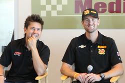 Sebastian Saavedra, AFS Racing/Andretti Autosport Chevrolet, Ryan Hunter-Reay, Andretti Autosport Chevrolet