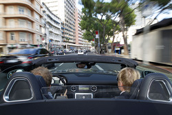Nico Rosberg and Mika Hakkinen in the streets of Monte Carlo