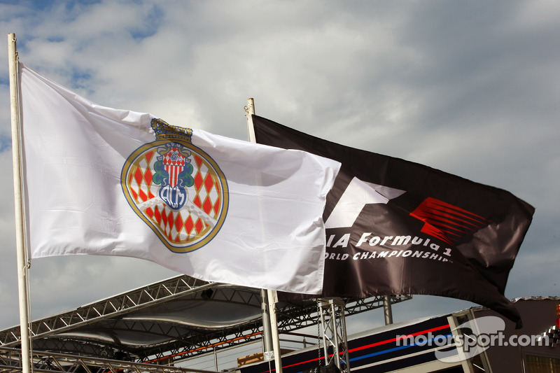 Monaco and F1 flags
