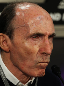 Frank Williams, Williams Team Owner in the FIA Press Conference