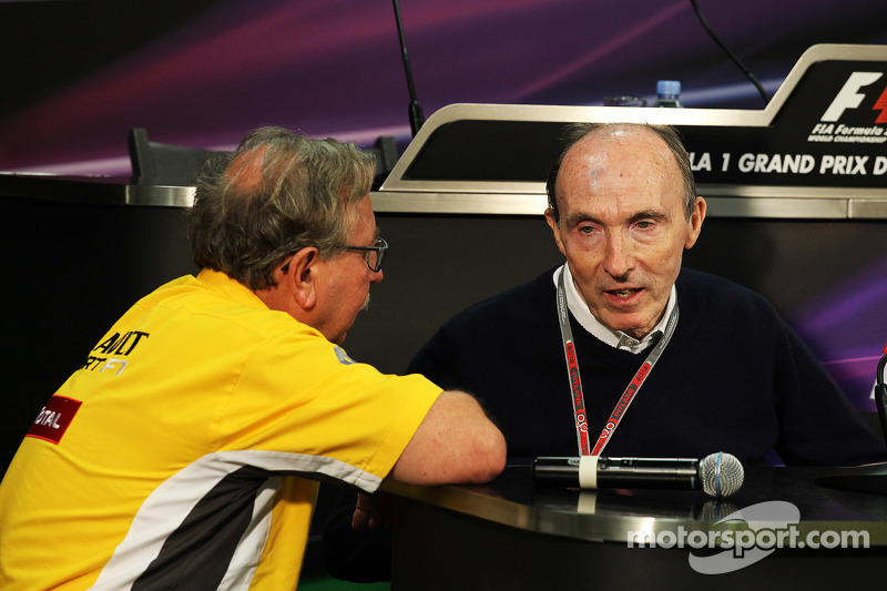 Jean-Francois Caubet, Renault Sport F1 Managing Director met Frank Williams, Williams teambaas in de