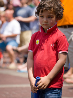 Indy 500 festival parade: son of Jean Alesi