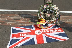 Winners photoshoot: tribute to Dan Wheldon