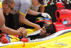Race winner Gustavo Yacaman