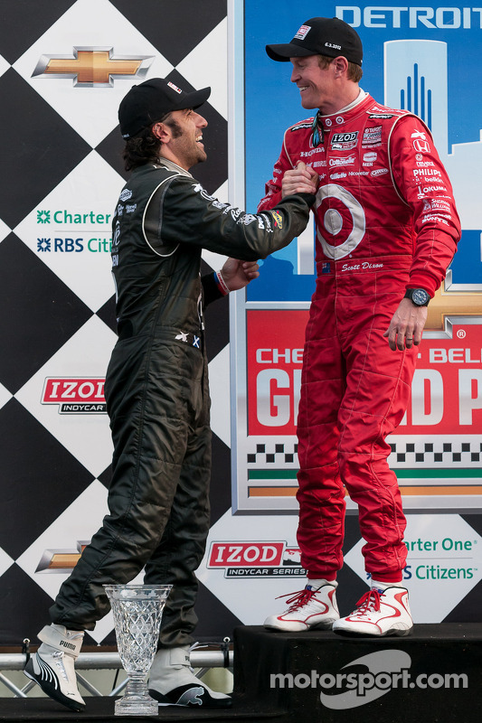 Race winnaar Scott Dixon, 2de Dario Franchitti