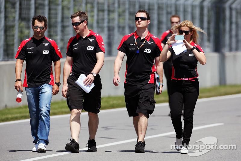 Juni 2012: Auch in Montreal ist de Villota beim Marussia-Trackwalk dabei