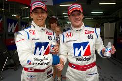 GT500 pole winners Takashi Kogure and Carlo Van Dam