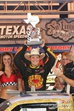 Victory lane: race winner Johnny Sauter