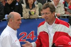 Dr. Wolfgang Ullrich and Ralf Jüttner, Audi Sport
