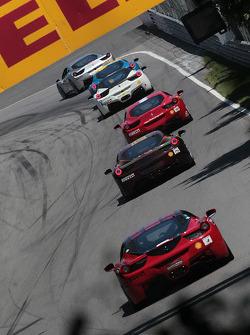 Chris Ruud Ferrari of Beverly Hills 458TP, Bob Callahan Ferrari of San Diego, Al Hegyi Ferrari of San Diego 458CS