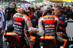 Casey Stoner, Repsol Honda Team and Dani Pedrosa, Repsol Honda Team