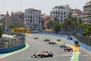 Formula One race at Valencia