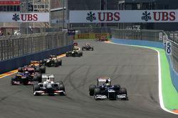 Sergio Perez, Sauber F1 Team and Bruno Senna, Williams F1 Team