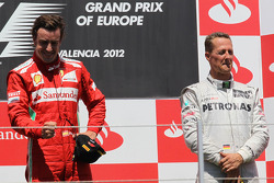 1st place Fernando Alonso, Scuderia Ferrari with 3rd place Michael Schumacher, Mercedes AMG Petronas