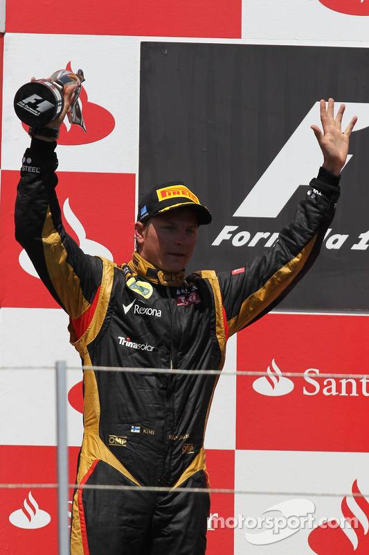 2de plaats Kimi Raikkonen, Lotus Renault F1 Team