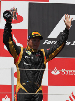 2nd place Kimi Raikkonen, Lotus Renault F1 Team