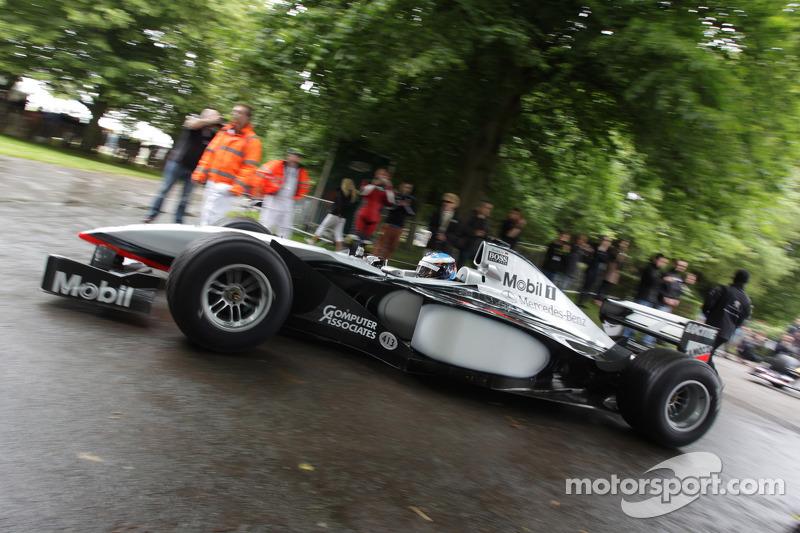 Nick Heidfeld drives a classic McLaren