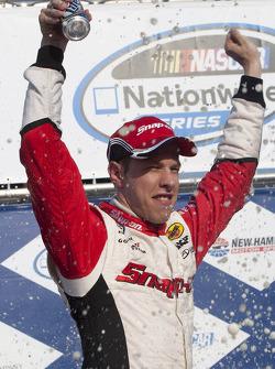 Victory lane: race winner Brad Keselowski
